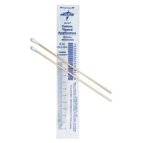 Sterile Wood Cotton Tip Applicator 3 Inches Case of 2000