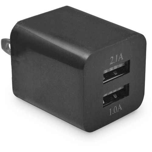 Ematic DualUSB 2.1 AC Bk 2.1 Amp Wall Charger