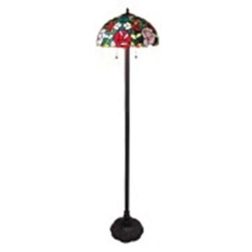 Amora Lighting 61 in. Tiffany Style Roses Floor Lamp