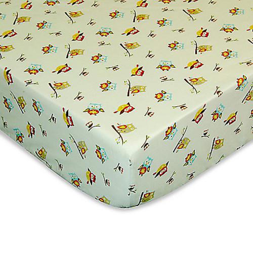 Laugh, Giggle & Smile Spotty Owl Crib Sheet