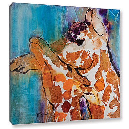Brushstone Cuddle I Gallery Wrapped Canvas Wall Art
