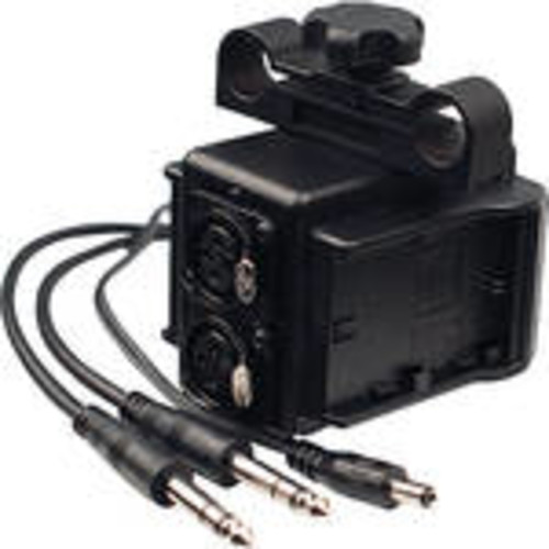 Dual LP-E6 Power Grid & XLR Audio Box for Blackmagic Cinema & Production Camera 4K (15mm Rod Bracket)