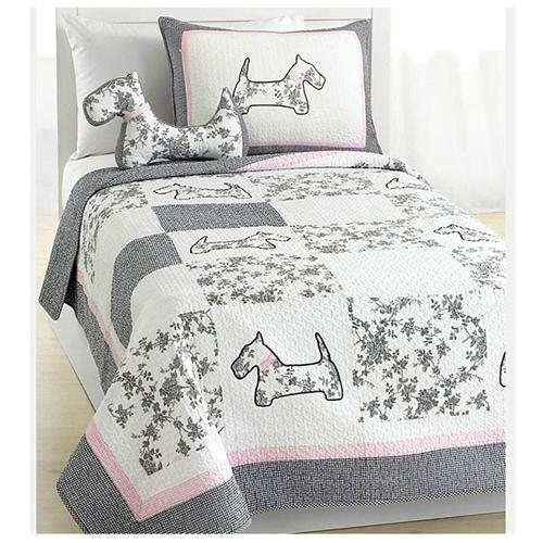 Scottie Pup Full/Queen-size Quilt Set