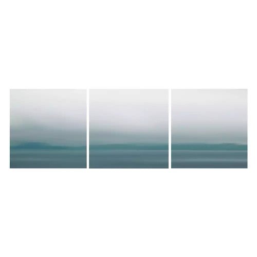 Nexxt Shutter Canvas Prints Blue Blurs Wall Art Set