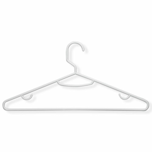 Honey-Can-Do HNGT01195 Lightweight Tubular Hangers White, 60-Pack