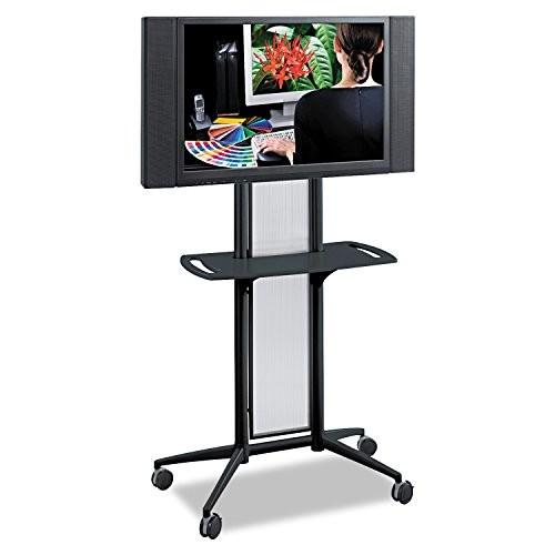 Safco Products 8926BL Impromptu Flat Panel TV Cart , Black Frame [Black (frame)]