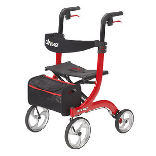 Drive Medical Nitro Euro-Style Rollator - Red