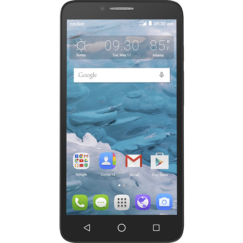 Cricket Wireless - Alcatel OneTouch Flint 4G with 16GB Memory Prepaid Cell Phone - Black