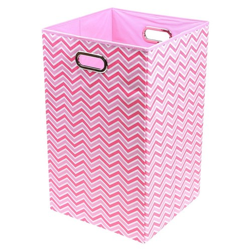 Modern Littles Zig Zag Folding Laundry Basket