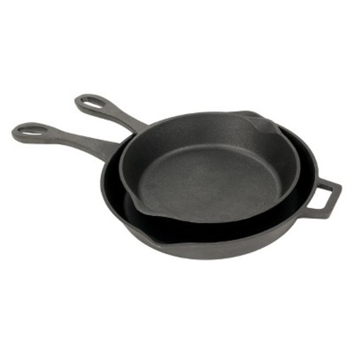 Bayou Classic Cast Iron 10in & 12in Skillet Set