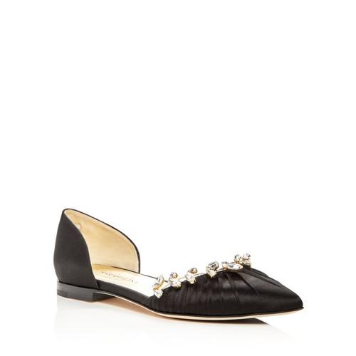 SARAH FLINT Luisa Embellished D'Orsay Pointed Toe Flats