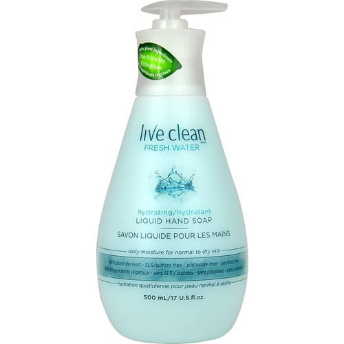 Live Clean Fresh Water Hydrating Liquid Hand Soap -- 17 fl oz
