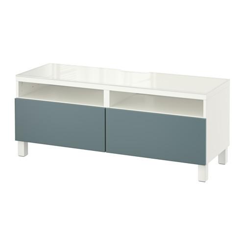 BEST TV unit with drawers, black-brown, Valviken dark brown