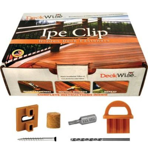 DeckWise ExtremeKD Ipe Clip Brown Biscuit Style Hidden Deck Fastener Kit for Hardwoods (175-Pack)