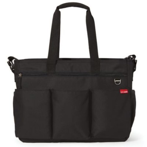 Skip Hop Duo Double Signature Diaper Bag in Black
