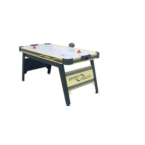 JOOLA Sport Squad 66in Air Powered Hockey BLACK/YELLOW with Table Tennis Conversion Top