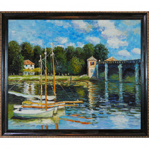 Wildon Home The Road Bridge at Argenteuil by Claude Monet Framed Painting