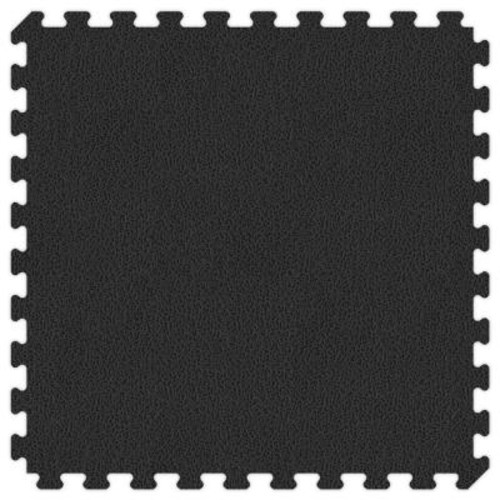 Groovy Mats Black and Grey Reversible 24 in. x 24 in. Extra Thick Comfortable Mat (100 sq.ft. / Case)