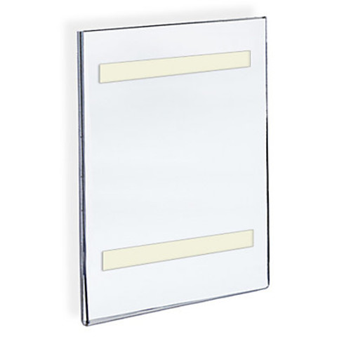 Azar Displays Acrylic Sign Holders With Adhesive Tape, 14
