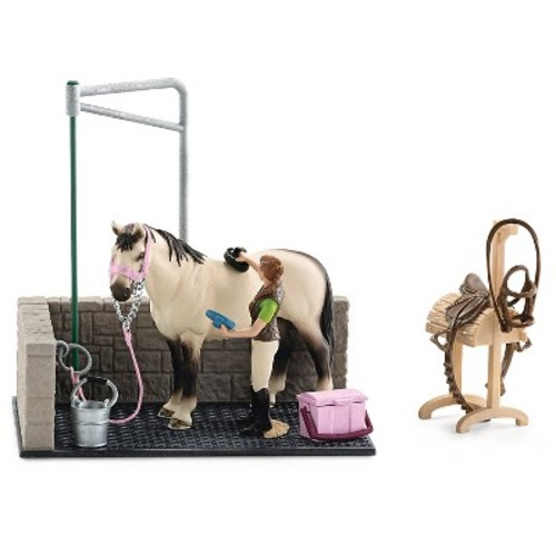 Schleich Horse Club Horse Wash Area Playset