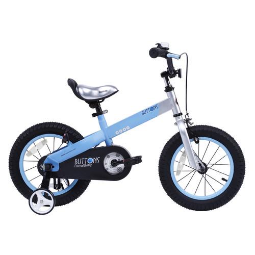 Royalbaby Buttons Kids Bike, 18 inch wheels, Matte Blue