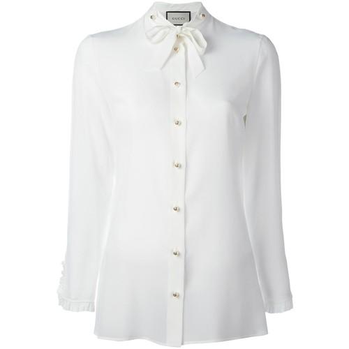 GUCCI Ruffle Trim Shirt