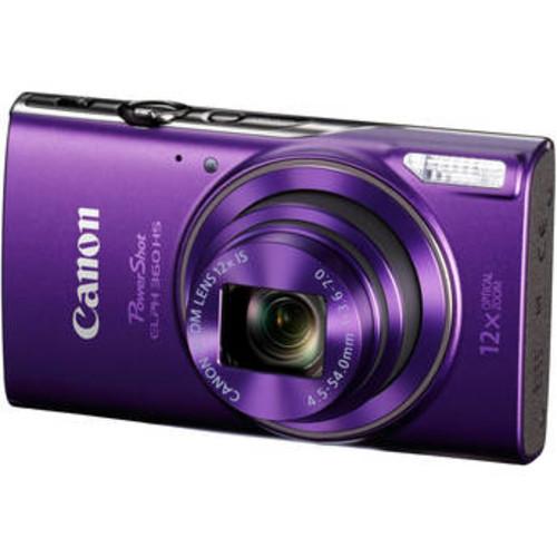 Canon 20.2MP PowerShot ELPH 360 Digital Camera - Purple