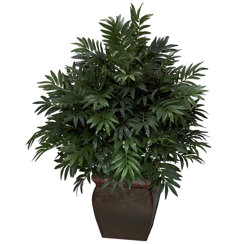 nearly natural Silk Triple Bamboo Palm Plant