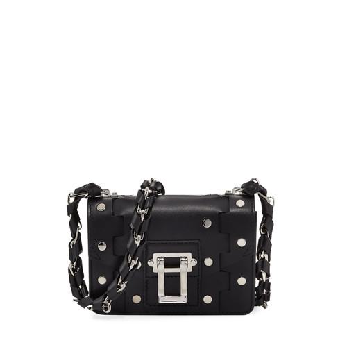 Hava Chain Leather Crossbody Bag