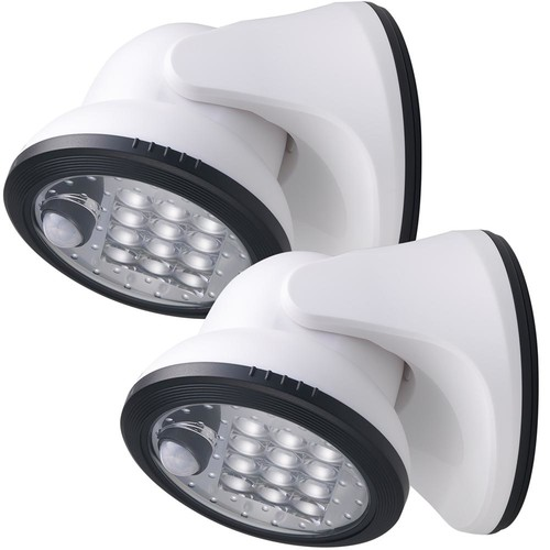 Light It! 12-Light White Motion Activated Outdoor Integrated LED Wireless Area Light (2-pack)