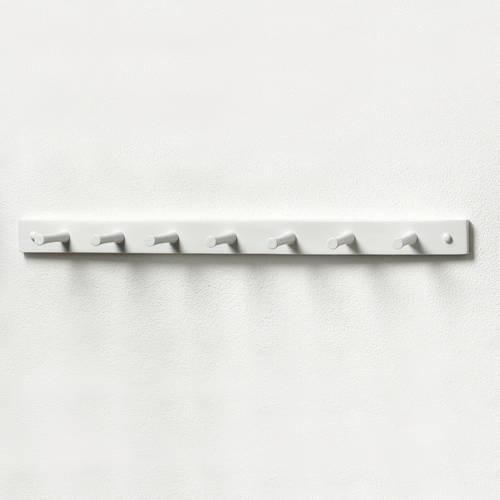 Spectrum Storage & Closet 7-Peg White Wood Rack