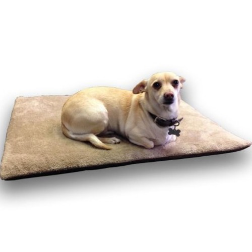 Age Pet CozySpot Large Beige Polyester Plush ThermoCore Pet Mat