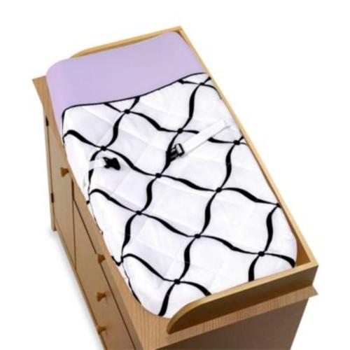 Sweet Jojo Designs Princess Changing Pad in Black/White/Purple