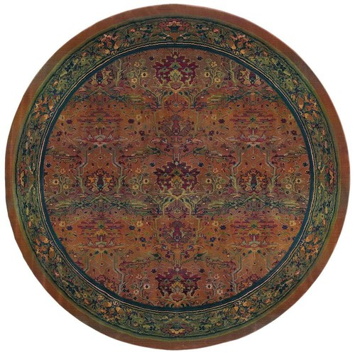Home Decorators Collection Peace Clay 8 ft. x 8 ft. Round Area Rug