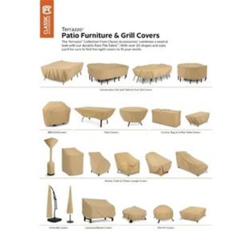Classic Accessories Terrazzo Patio Chaise Cover