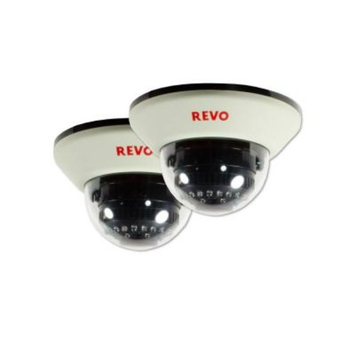Revo 1200 TVL Indoor Dome Surveillance Camera with 100 ft. Night Vision and BNC Conversion Kit (2-Pack)