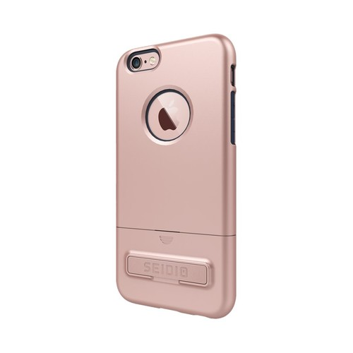 Seidio - SURFACE Combo Case for Apple iPhone 6 Plus and 6s Plus - Midnight Blue/Rose G