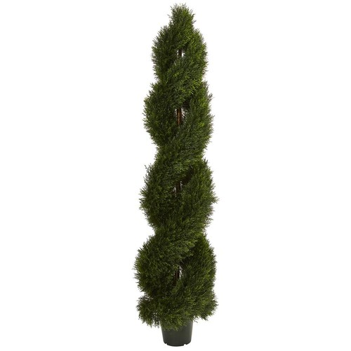 Nearly Natural UV Resistant Indoor/Outdoor Double Pond Cypress Spiral Topiary