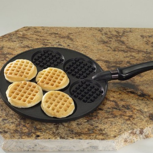 Nordic Ware Silver Dollar Waffle Griddle, Black