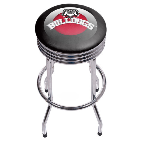 University of Georgia Chrome Ribbed Bar Stool - Honeycomb - See Description