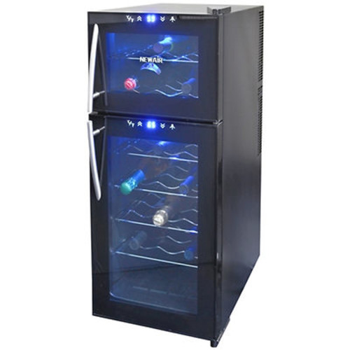 Air 21-Bottle Dual-Zone Thermoelectric Wine Cooler - Black
