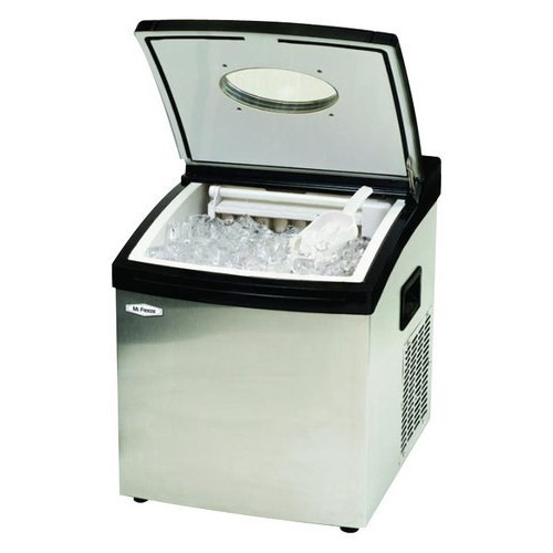 MaxiMatic MIM-5802 Mr Freeze Portable Ice Maker, Stainless Steel
