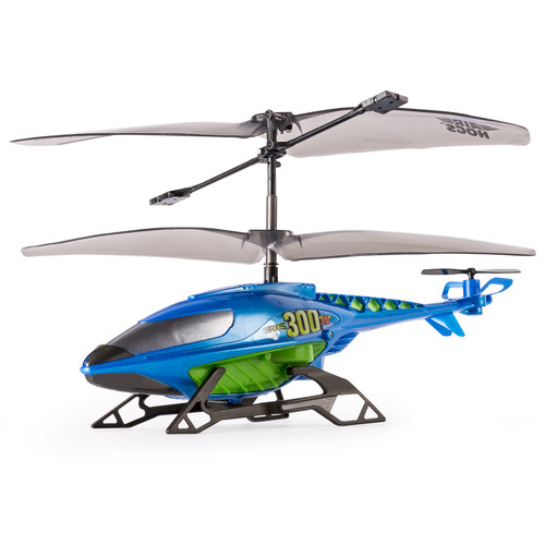 Air Hogs Axis 300x RC Helicopter With Batteries - Blue & Green