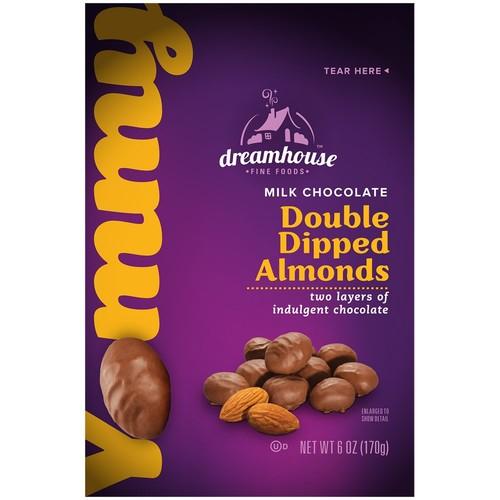 Dreamhouse Double Dipped Milk Chocolate Almonds, 6 oz
