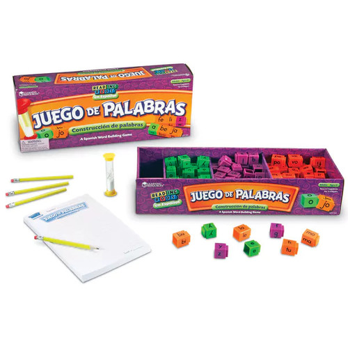 Learning Resources Juego de Palabras Spanish Reading Rods Word Game - Juego de Palabras Spanish Reading Rods Word Game