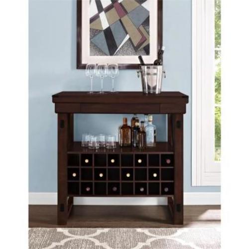 Altra Furniture Wildwood Mahogany Bar