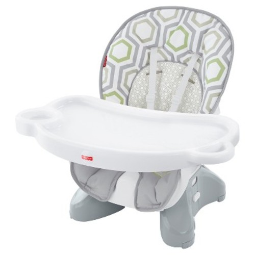 Fisher-Price Baby Geometric Print Hook-On High Chair Light Gray/White/Meadow Green