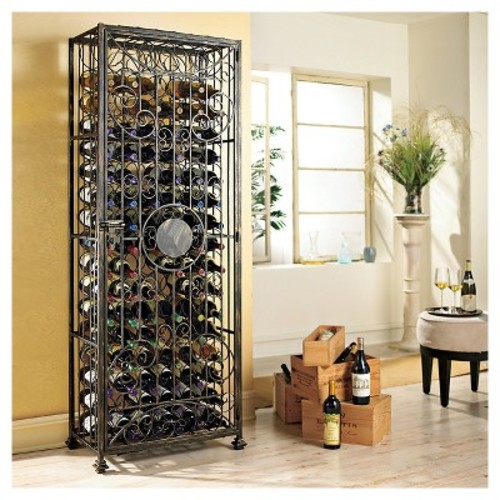 138 Bottle Tie Grid Wine Rack Black - The Wine Enthusiasts