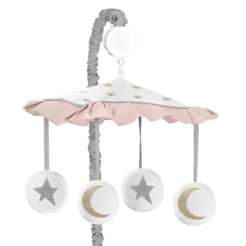 Sweet Jojo Designs Pink and Gold Celestial Collection Musical Mobile