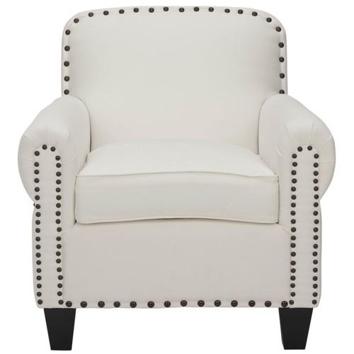Safavieh Abigail Club Chair - Brass Nail Heads
